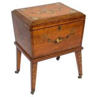 Late 19th Century Georgian Satinwood Wine Cooler