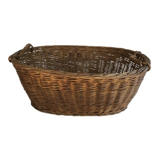 Oval French Patina Basket