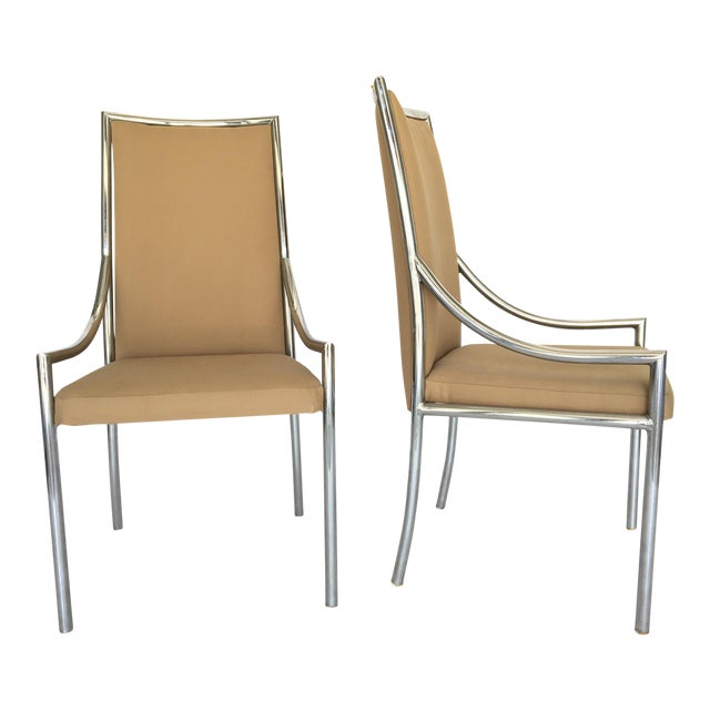 Chrome Dining Chairs After Milo Baughmann - A Pair - Image 1 of 7