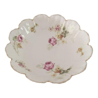 Antique Malmaison Bavaria Porcelain Floral Pattern Bowl For Sale
