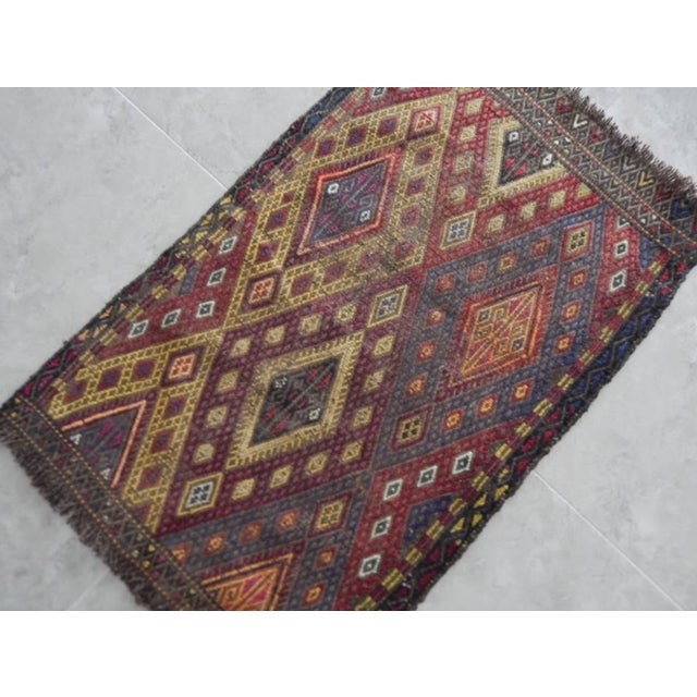 Handwoven Anatolian Turkish Oushak Braided Kilim Rug For Sale - Image 4 of 8