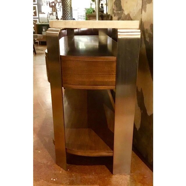Metal Drexel Heritage Orme Console For Sale - Image 7 of 8
