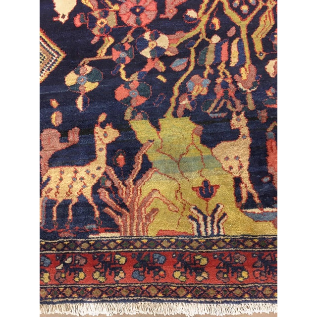 """Antique Persian Lillihan Tree of Life Rug, 4'3"""" X 8'2"""" For Sale - Image 4 of 10"""