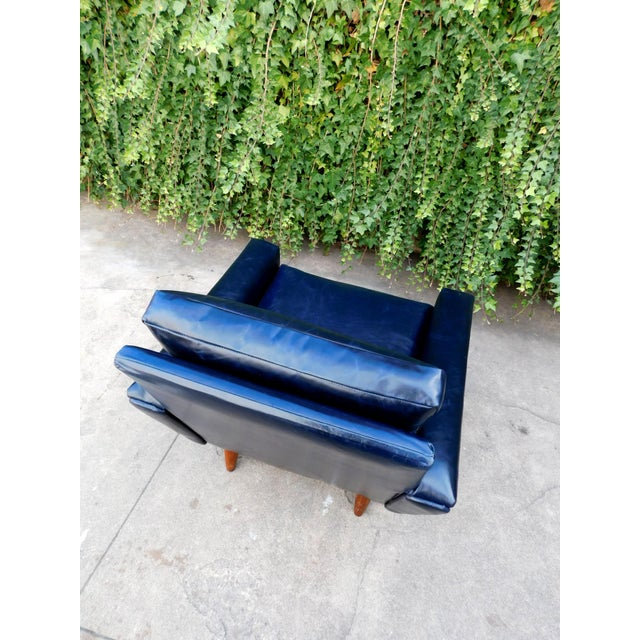 1960s Mid-Century Leather Chair For Sale - Image 5 of 8