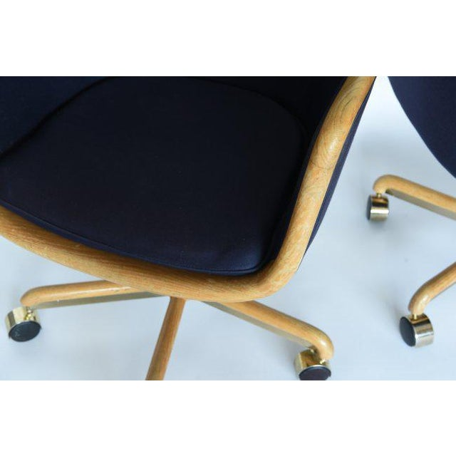 1970's Pair of Desk Chairs by Ward Bennett for Brickel Associates For Sale - Image 10 of 11
