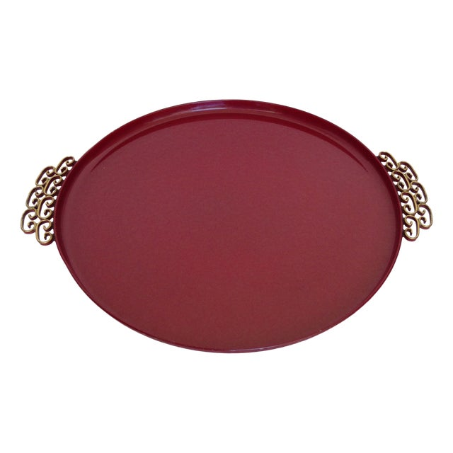 Moire' Glaze Kyes Round Tray For Sale