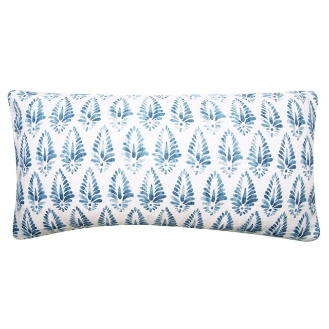 Blue and White Printed Pillow Cover in Jalisa Copen by Pindler. SHIPPING :7 -10 day lead time required SPECIFICS...
