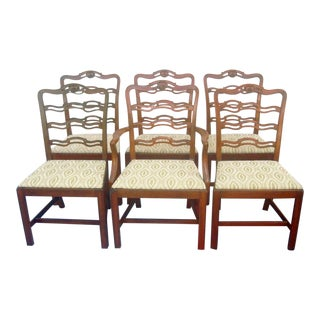1940s Vintage Cherry Dining Chairs - Set of 6