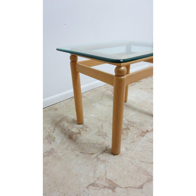 Ethan Allen Ethan Allen Floating Glass End Table For Sale - Image 4 of 7
