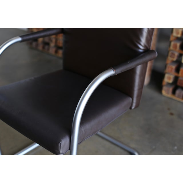 Vitra Leather Armchairs by Antonio Citterio & Glen Oliver Low for Vitra - Set of 4 For Sale - Image 4 of 10