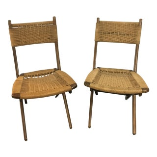 Hans Wegner Folding Rope Chairs - A Pair