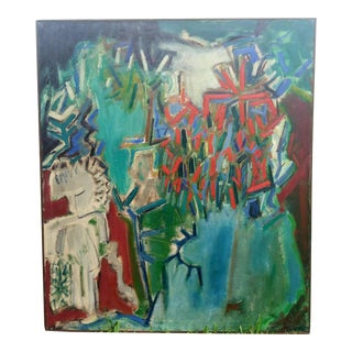 Abstract Expressionist Walter Chruscinski Abstract Landscape 1962 For Sale