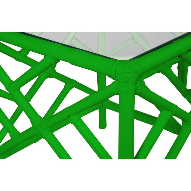 Not Yet Made - Made To Order Chippendale Nesting Tables - Bright Green For Sale - Image 5 of 6