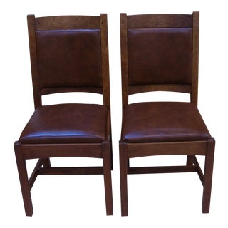 Stickley Cherry Wood Desk Chairs - A Pair