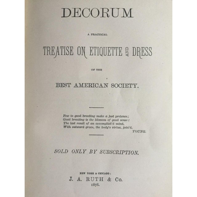 Traditional Late 1800s Decorum Treatise On Etiquette And Dress Book For Sale - Image 3 of 11