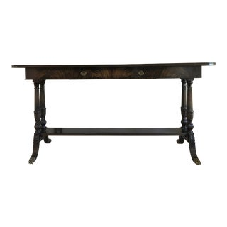 1930s Vintage Imperial Furniture Ebonized Mahogany Console Table For Sale