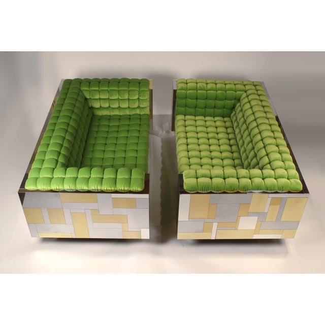 Pair of Cityscape Settees Designed by Paul Evans for Directional C. 1970 For Sale - Image 11 of 11