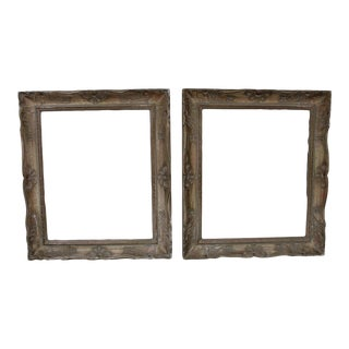 Venetian Vintage Wood and Plaster Picture Frames - a Pair For Sale