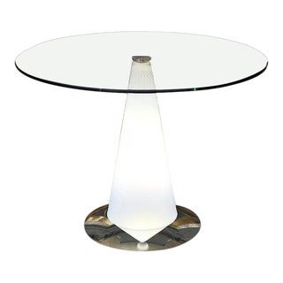 1980s Contemporary Parisotto for Fontana Arte Tavolo Birillo Illuminated End Table For Sale