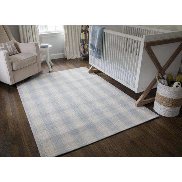 2010s Erin Gates by Momeni Marlborough Charles Light Blue Hand Woven Wool Area Rug - 8' X 10' For Sale - Image 5 of 6