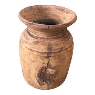 Rustic Decorative Wood Vase