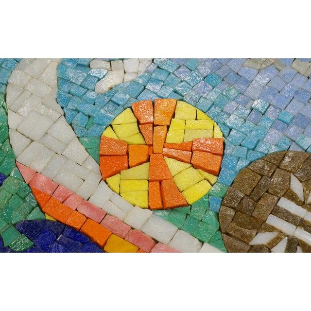 Rare Evelyn Ackerman Mosaic Tile Wall Hanging, Grecian Long Boat Scene - Image 7 of 8