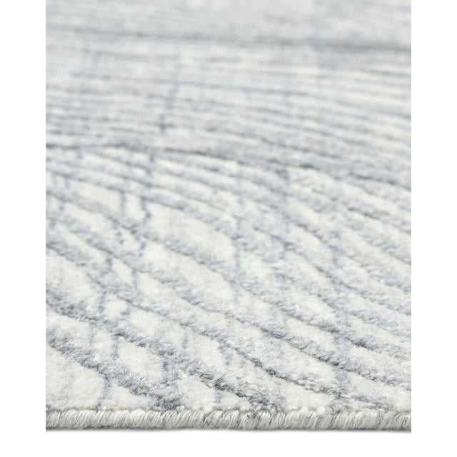 Shiva, Contemporary Modern Hand Loomed Area Rug, Mist, 9 X 12 For Sale In New York - Image 6 of 10
