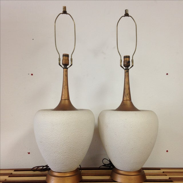 Art Deco Gilded Lamps - Pair - Image 2 of 5