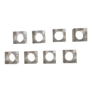 Set of 8 - Modern Lucite Napkin Rings