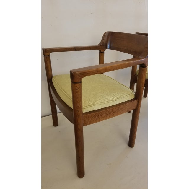 1960s Walnut Zographos Ireland Chairs - a Pair For Sale In San Antonio - Image 6 of 10