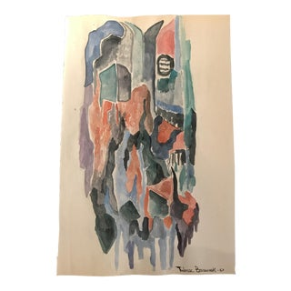 1967 Tadeusz Brzozowski Mid-Century Modern Abstract Painting For Sale