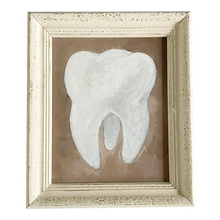 Vintage Memo Faraj Molar Tooth Painting For Sale