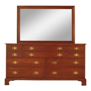 Henkel Harris Cherry Dresser With Matching Mirror