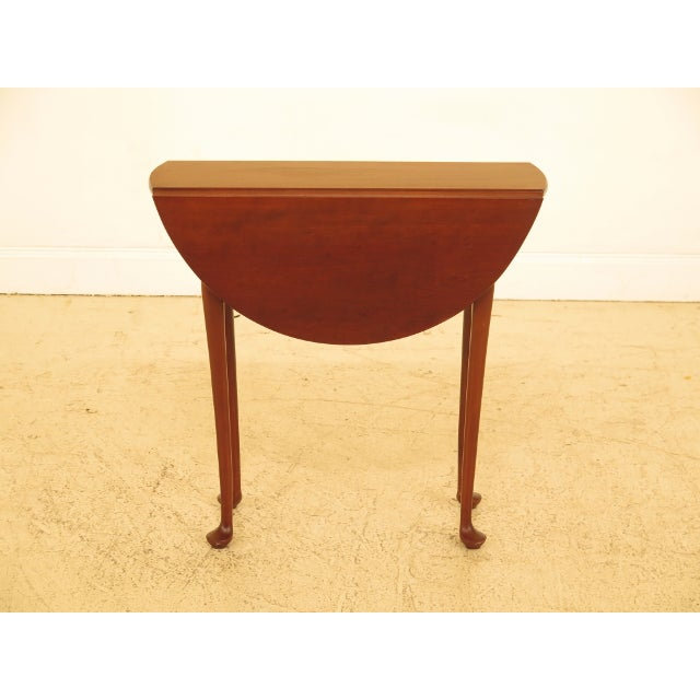 Eldred Wheeler Cherry Queen Anne Drop Leaf Occasional Table For Sale - Image 13 of 13