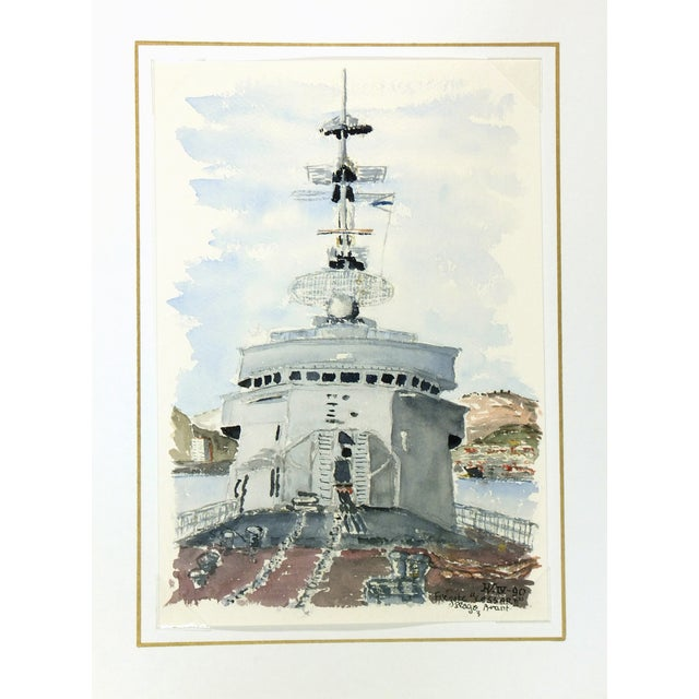 Watercolor Painting, Anti-Aircraft Frigate - Image 4 of 4