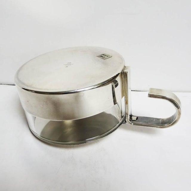 Metal Christofle Silver and Crystal Sugar Bowl For Sale - Image 7 of 8