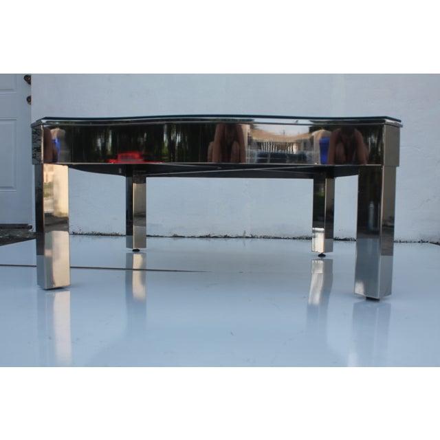 Milo Baughman Style Chrome Mirror Top Coffee Table Chairish