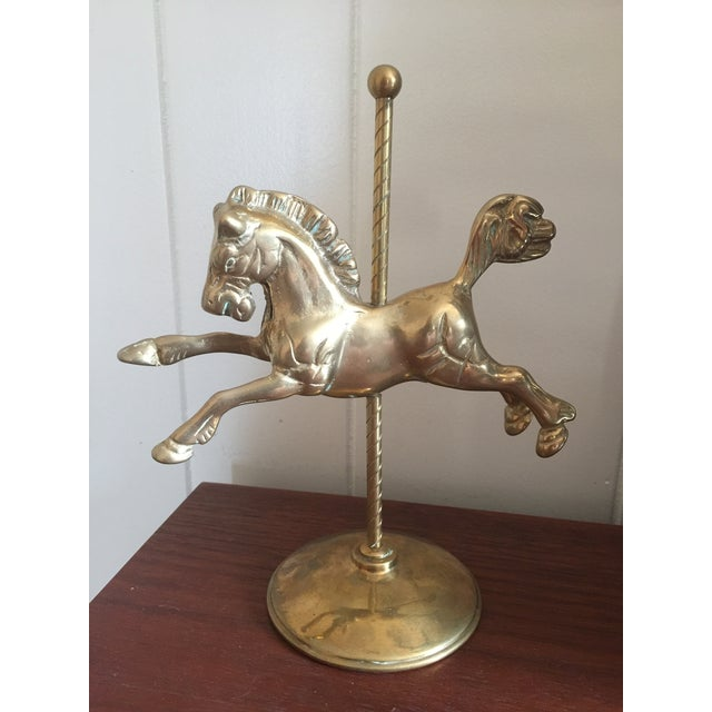 Brass Vintage Brass Carousel Horse For Sale - Image 8 of 8