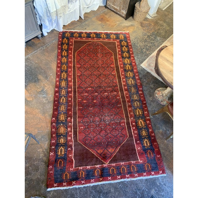 "Hand-Tied Red Persian Kolia Rug 4'11 X 8'10"" For Sale - Image 4 of 13"