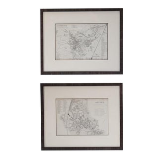 Late 18th Century Vintage Oxford and Cambridge Maps- A Pair For Sale