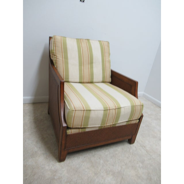 Thomasville Tommy Bahama Style Wicker Lounge Chair For Sale - Image 13 of 13