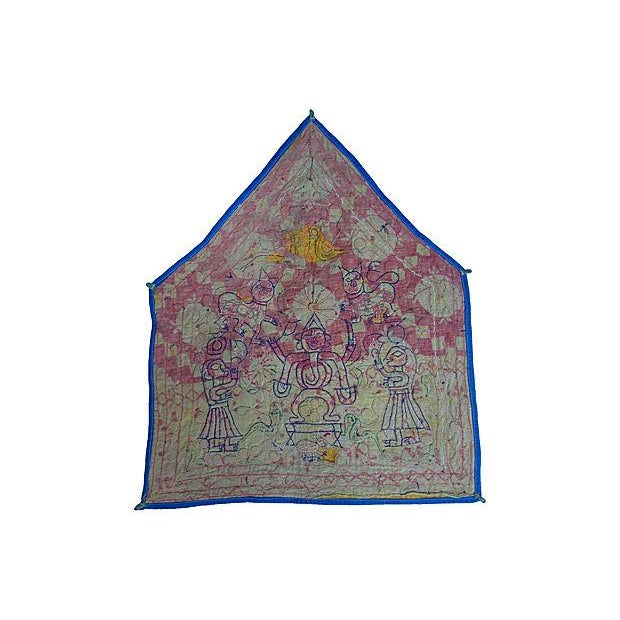 Indian Embroidered Banner For Sale - Image 5 of 5