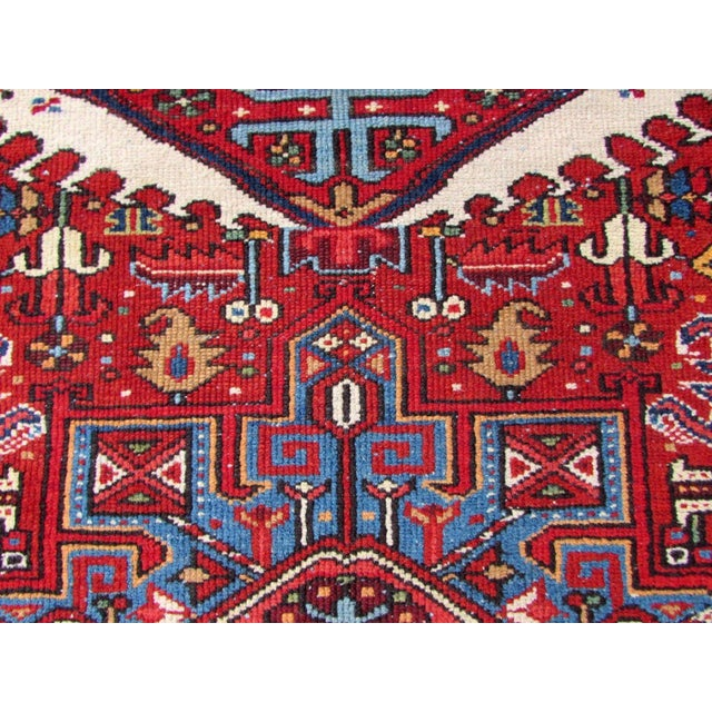 1920s, Handmade Antique Persian Heriz Rug 4.9' X 6.1' For Sale - Image 10 of 11