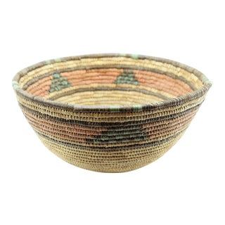 20th Century African Hand Woven Basket Bowl/Basket For Sale