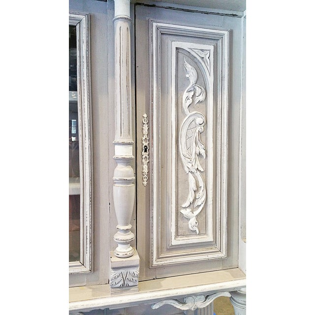 Antique French Painted Hutch For Sale - Image 10 of 11