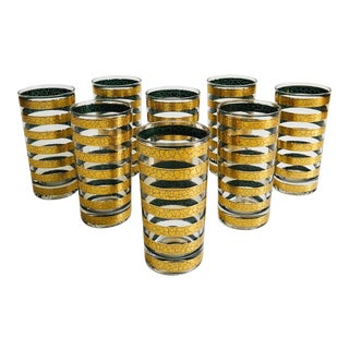 Mid Century Culver Regiment Highball Glasses - Set of 8 For Sale