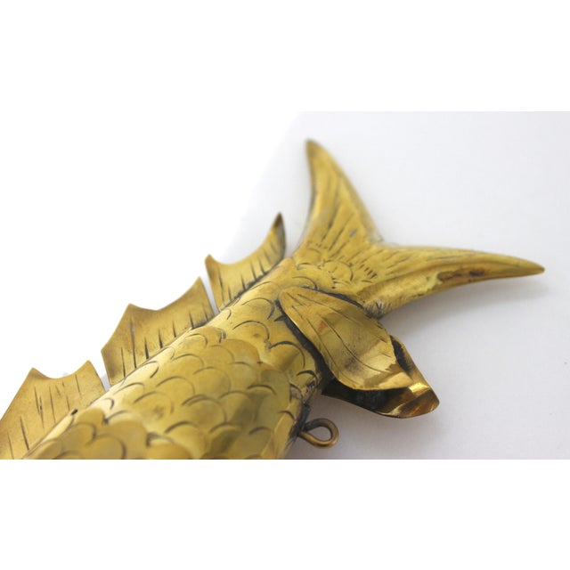 Mid-Century Modern Articulated Fish Sculpture From Malta For Sale - Image 11 of 13