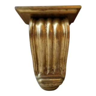 Large Gold Gilt Wall Mounted Corbel Sconce Shelf For Sale
