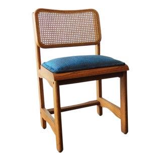 Retro Oak Cane Chair