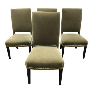 A. Rudin Chairs in Donghia Mohair Fabric- Set of Four For Sale